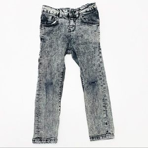Zara Boys Black Acid Wash Distressed Jeans | 5